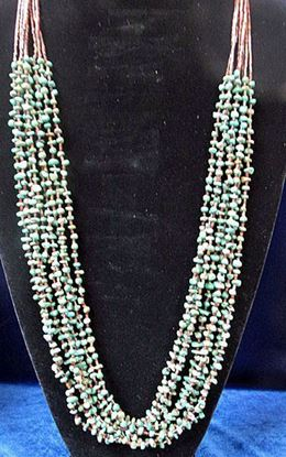 Eight strand turquoise necklace 1