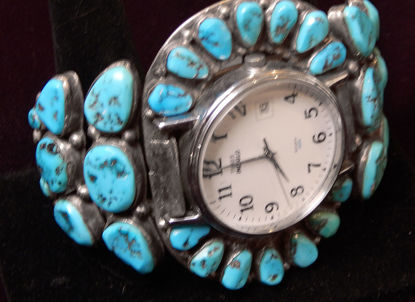 Turquoise Cluster Watch Bracelet A