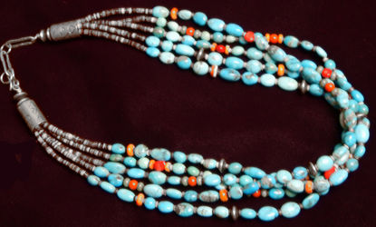 Navajo Turquoise Necklace A