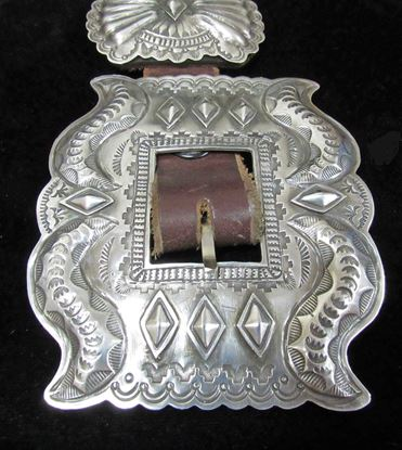 Dead pawn sterling silver concho belt 1