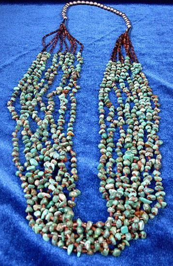 Eight strand turquoise necklace 2