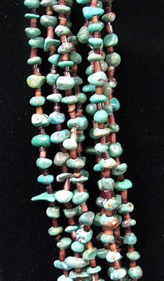 Picture of Turquoise Necklaces with Eight Strands