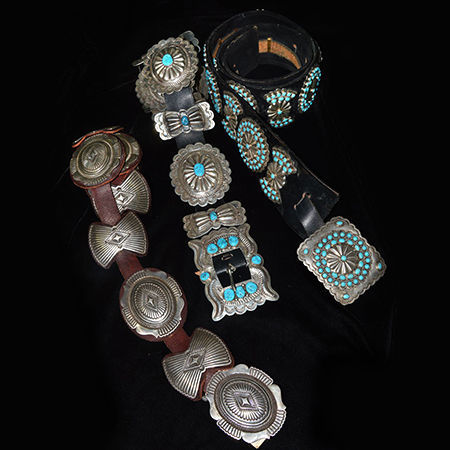 Picture for category Navajo Pawn Concho Belts