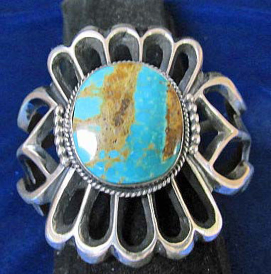 Picture of Sandcast Bracelet with turquoise stone