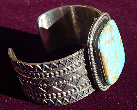 Turquoise Bracelet with One Stones 2 a