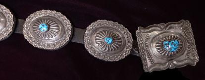 Navajo Silver Concho Belt D